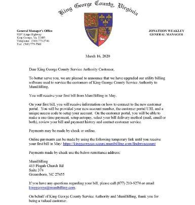 KGCSA Transition Letter