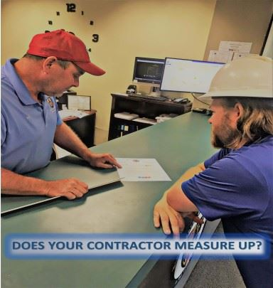 Does your contractor measure up